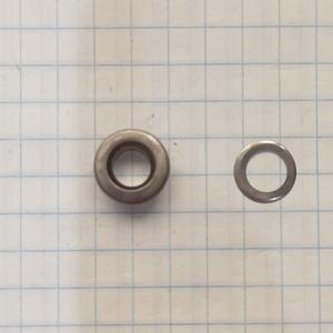 Блочка 3 плоская темный никель