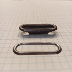 Блочка овальная 30мм темный никель