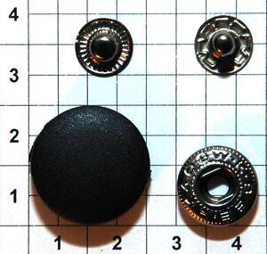 Кнопка пластиковая 20мм черная