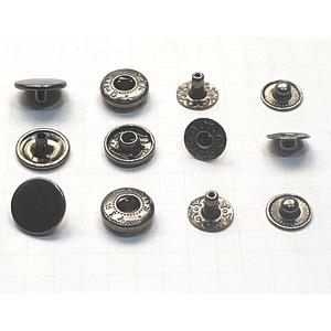 Кнопка альфа 12.5мм темный никель №633 плоская