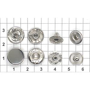 Кнопка альфа 12.5мм никель №633 плоская