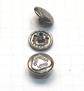 Кнопка альфа 12.5мм темный никель №54 рубашечная