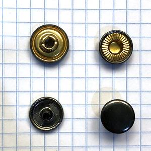 Кнопка №501 12.5мм темный никель кольцевая