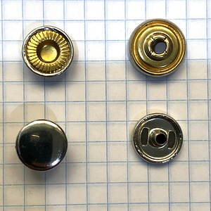 Кнопка №501 12.5мм никель кольцевая