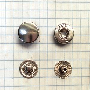 Кнопка альфа 12.5мм никель №54 рубашечная