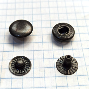 Кнопка альфа 12.5мм оксид №54 рубашечная Strong