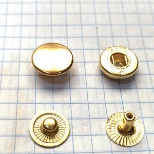 Кнопка альфа 12.5мм золото №54 рубашечная