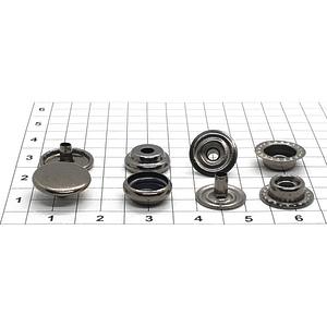 Кнопка тип 61 12.5мм темный никель кольцевая