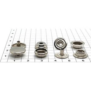 Кнопка тип 61 12.5мм никель кольцевая