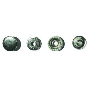Кнопка №61 15мм никель кольцевая