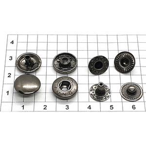 Кнопка альфа 12.5мм темный никель №633 рубашечная