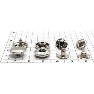 Кнопка альфа 12.5мм никель №633 рубашечная