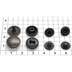 Кнопка альфа 12.5мм оксид №633 рубашечная