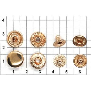 Кнопка альфа 12.5мм светлое золото №633 рубашечная
