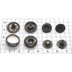 Кнопка альфа 13.5мм темный никель