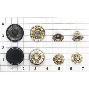 Кнопка альфа 13.5мм черная