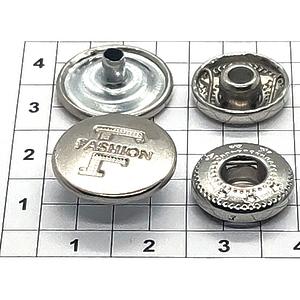 Кнопка 17мм Fashion никель