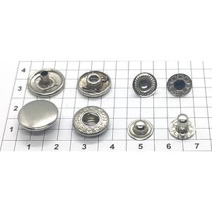Кнопка альфа 13.5мм никель
