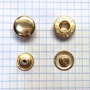 Кнопка альфа 15мм золото Strong