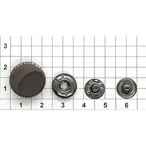 Кнопка гладкая 17мм темный никель