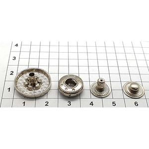 Кнопка гладкая 17мм никель
