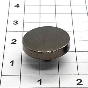 Кнопка гладкая 12.5мм темный никель