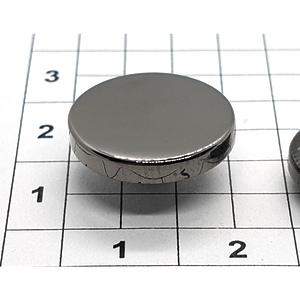 Кнопка гладкая 15мм темный никель