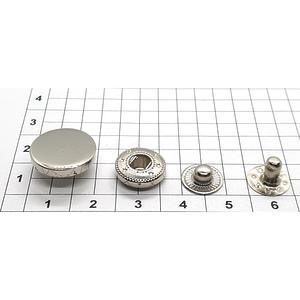 Кнопка гладкая 15мм никель