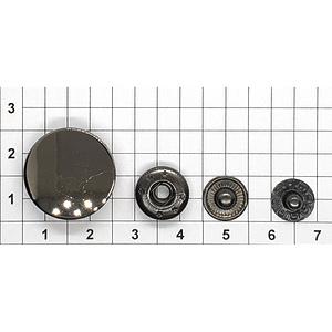 Кнопка гладкая 20мм темный никель