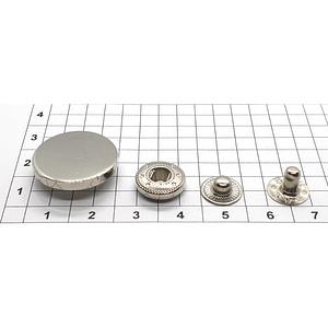 Кнопка гладкая 20мм никель