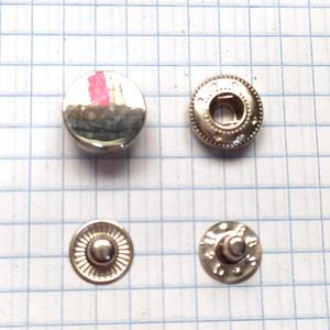 Кнопка гладкая 12.5мм никель