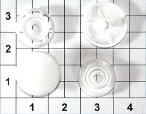 Кнопка пластиковая Т8 12мм белая для папок