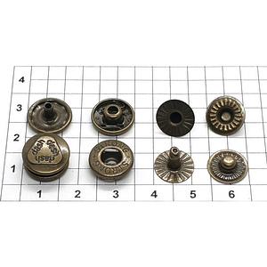 Кнопка альфа 12.5мм антик №54 рубашечная Strong