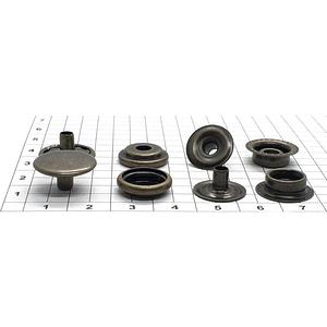 Кнопка тип 61 15мм антик кольцевая Strong