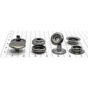 Кнопка тип 61 15мм темный никель кольцевая Strong