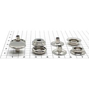 Кнопка тип 61 15мм никель кольцевая Strong