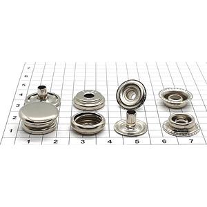 Кнопка тип 61 15мм никель кольцевая