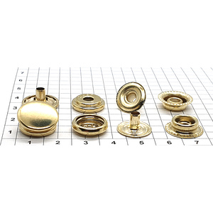 Кнопка тип 61 15мм золото кольцевая