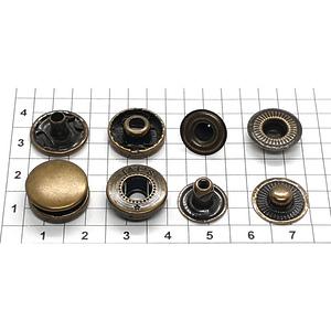 Кнопка альфа 15мм антик