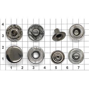 Кнопка альфа 15мм темный никель