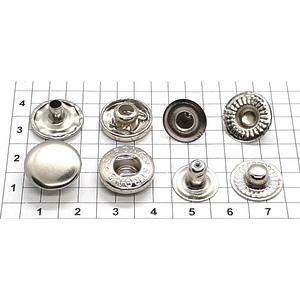 Кнопка альфа 15мм никель Strong