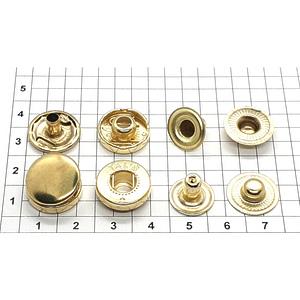 Кнопка альфа 15мм золото