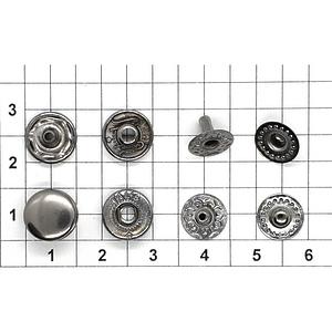 Кнопка альфа 10.5мм темный никель VT-2 кошелечная