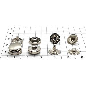 Кнопка альфа 10.5мм никель VT-2 кошелечная