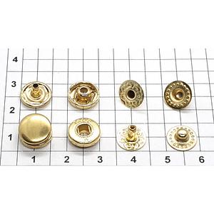 Кнопка альфа 10.5мм золото VT-2 кошелечная