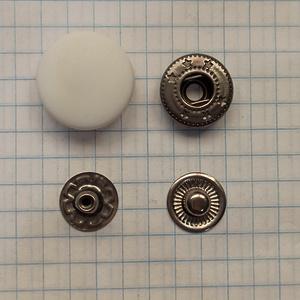 Кнопка пластиковая 17мм белая