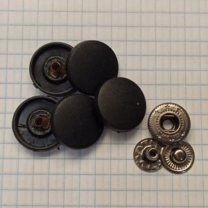 Кнопка пластиковая 17мм черная