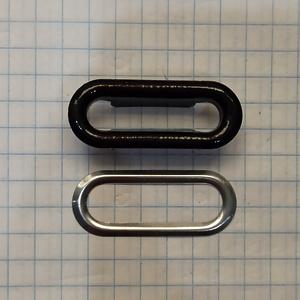 Блочка овальная 25мм черная