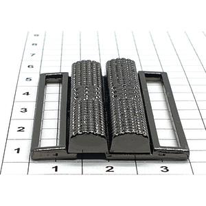 Пряжка Е191 4см разъемная темный никель
