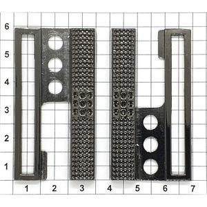 Пряжка Е191 5см разъемная темный никель